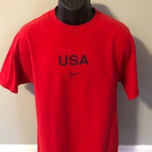 Nike Team USA Swoosh Logo Tee Shirt